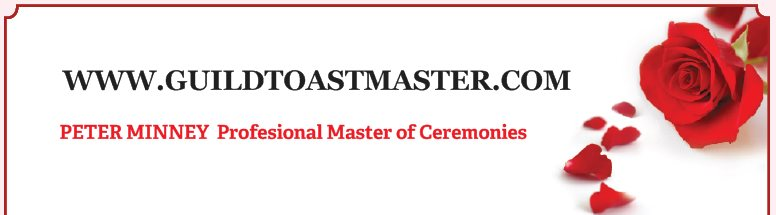 WWW.GUILDTOASTMASTER.COM - PETER MINNEY  Profesional Master of Ceremonies